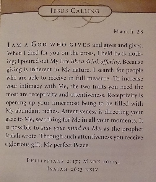Jesus Calling March 28 2016